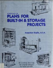 Cover of: Portfolio of plans for built-in & storage projects | Augustus Suglia