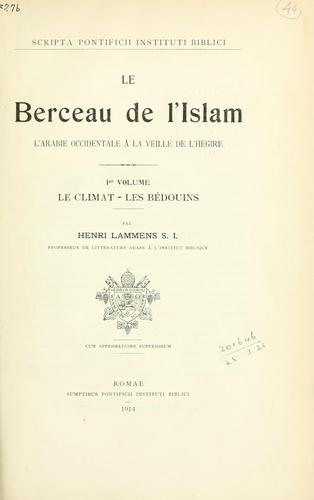 Download Le Berceau de l'Islam
