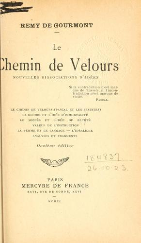 Download Le chemin de velours