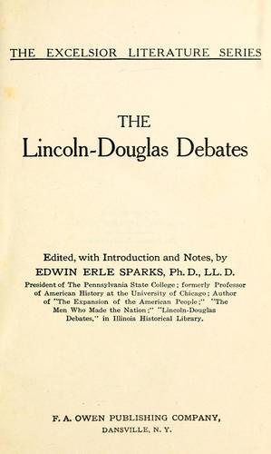 Download The Lincoln-Douglas debates
