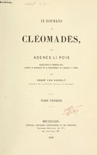 Li roumans de Cléomadès