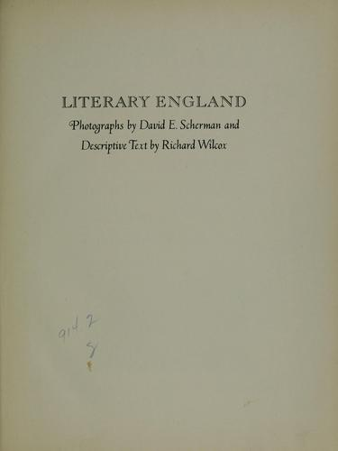 Download Literary England