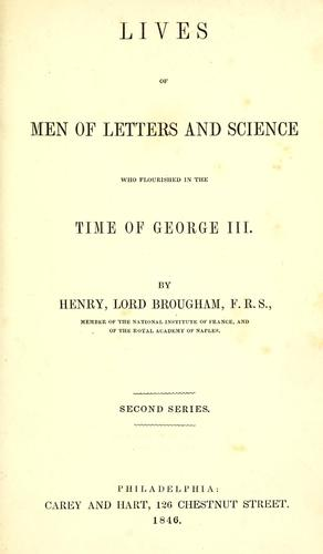 The lives of men of letters and science