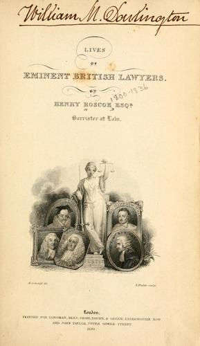 Download Lives of eminent British lawyers