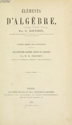 Download Éléments d'algèbre.