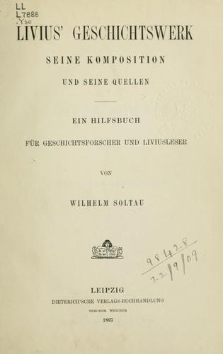 Livius' Geschichtswerk