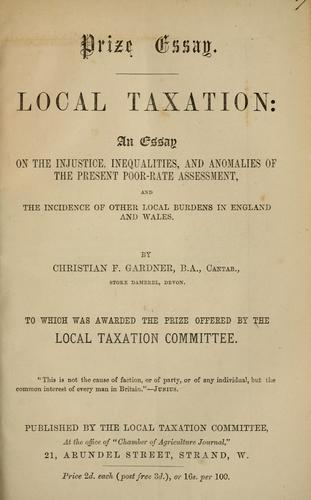 Download Local taxation