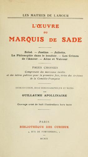 Download L' oeuvre du Marquis de Sade