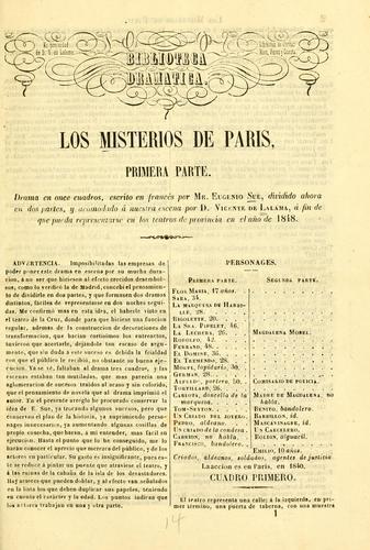 Los misterios de Paris. Primera parte
