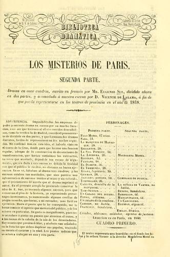 Los misterios de Paris. Segunda parte