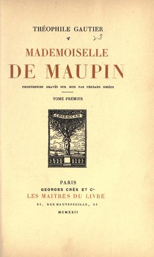 Download Mademoiselle de Maupin