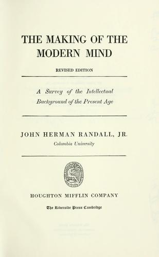 The making of the modern mind.