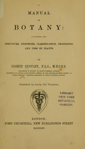 Download A manual of botany