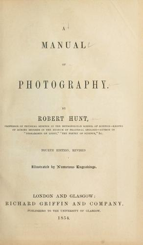 Download A manual of photography