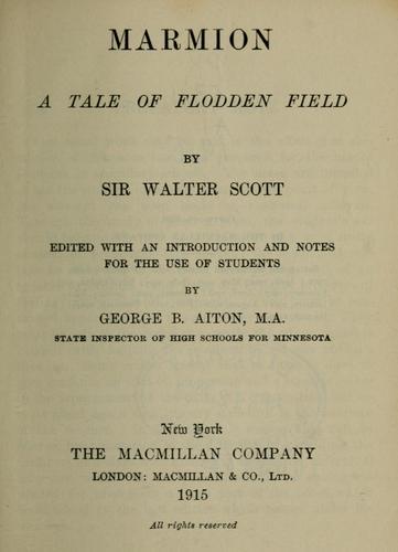 Download Marmion, a tale of Flodden Field