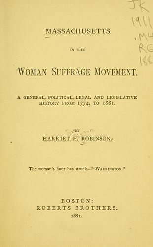 Download Massachusetts in the woman suffrage movement