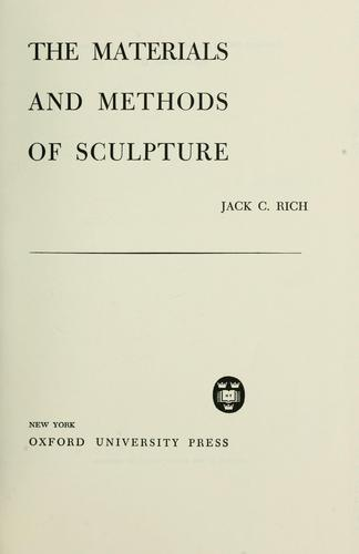 Download The materials and methods of sculpture.