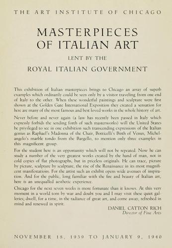 Download Masterpieces of Italian art