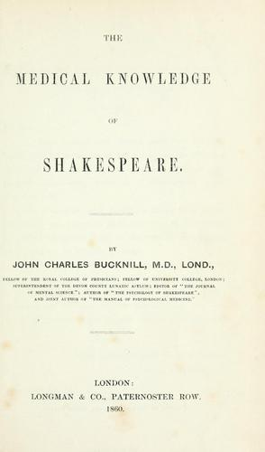 Download The medical knowledge of Shakespeare.