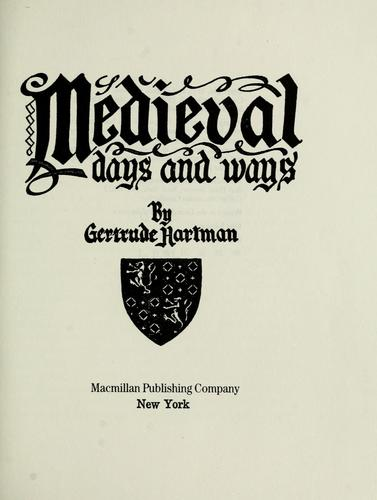 Download Medieval days and ways