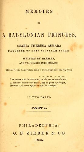 Download Memoirs of a Babylonian princess