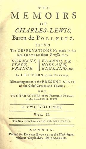 Download The memoirs of Charles-Lewis, baron de Pollnitz