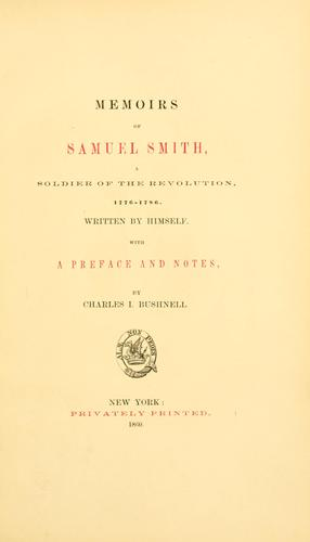 Memoirs of Samuel Smith
