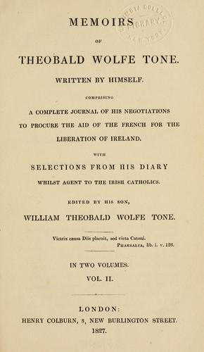 Memoirs of Theobald Wolfe Tone