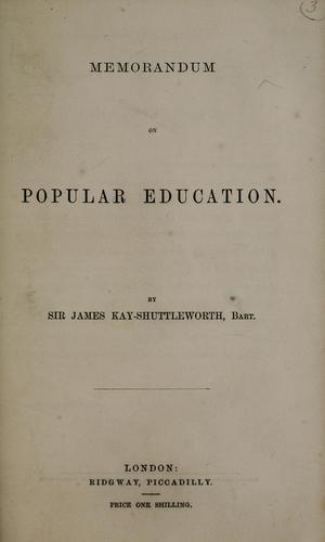 Memorandum on popular education
