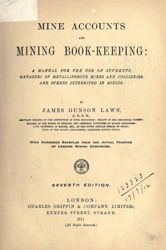 Mine accounts and mining bookkeeping