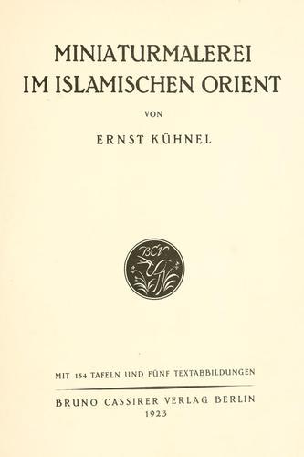 Download Miniaturmalerei im islamischen Orient.