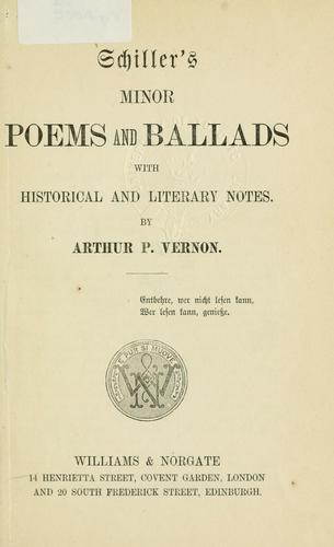 Minor poems and ballads