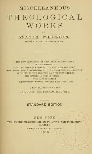 Download Miscellaneous theological works of Emanuel Swedenborg
