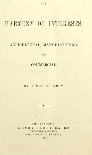 Download Miscellaneous works of Henry C. Carey.
