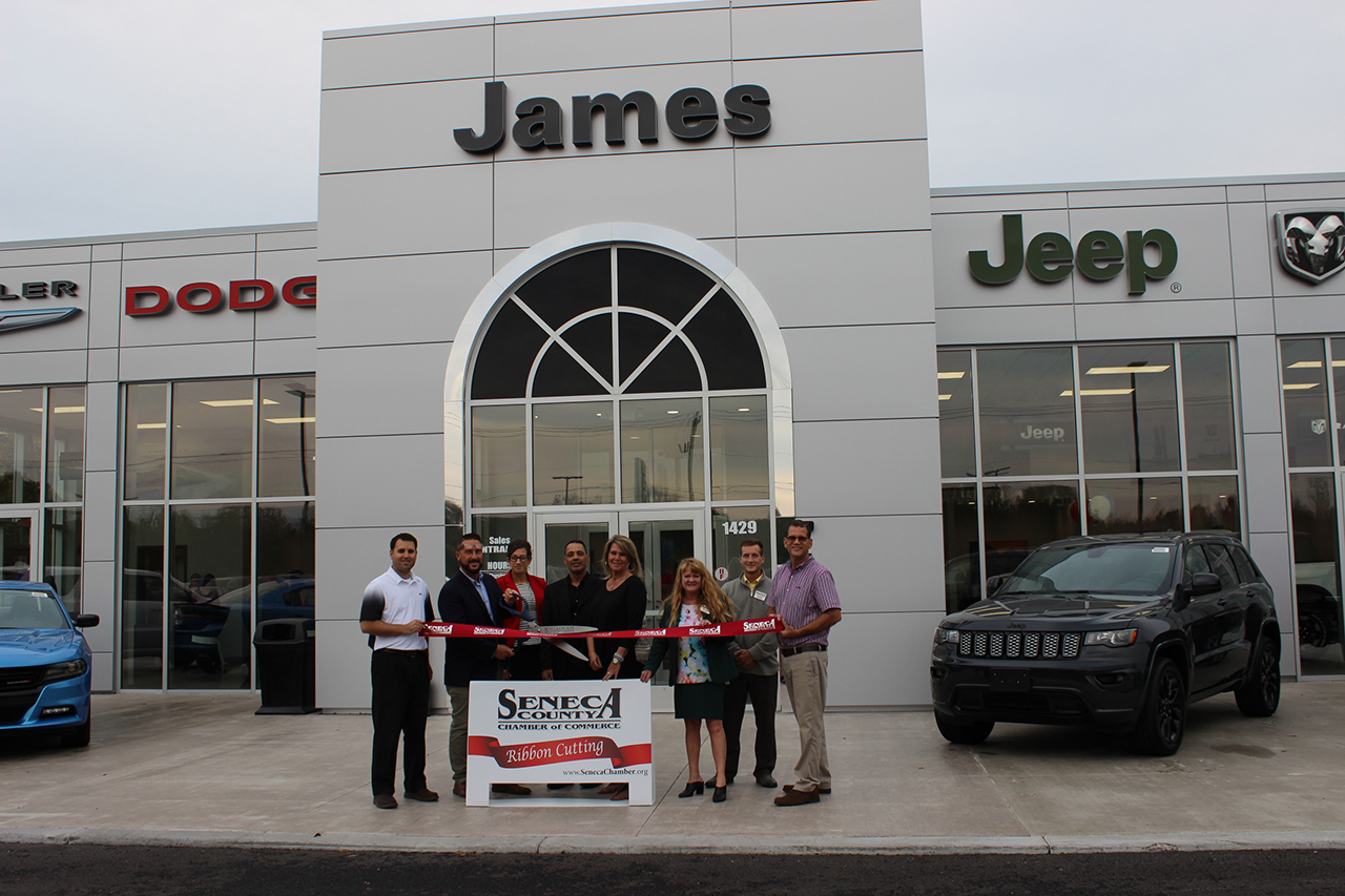 James Chrysler Dodge Jeep ribbon cutting ceremony