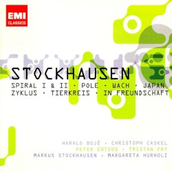 Spiral / Pole / Japan / Zyklus / Tierkreis by Stockhausen ;   Harald Bojé ,   Christoph Caskel ,   Péter Eötvös ,   Tristan Fry ,   Markus Stockhausen ,   Margareta Hürholz