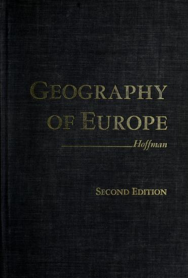 A geography of Europe by George Walter Hoffman