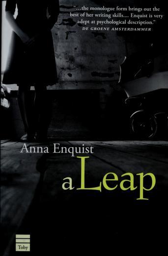 Cover of: A leap | Anna Enquist