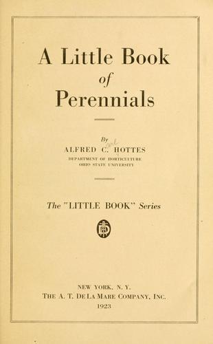 A little book of perennials