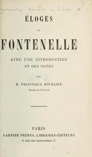 Éloges by Fontenelle M. de