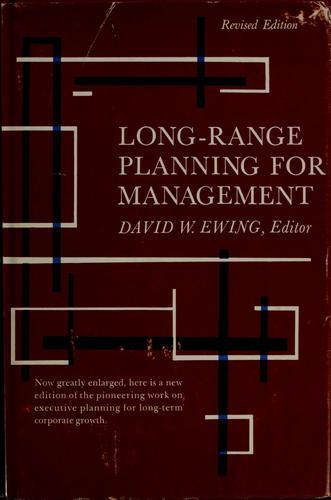 Long-range planning for management.