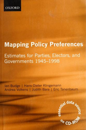 Mapping policy preferences by Ian Budge ... [et al.].